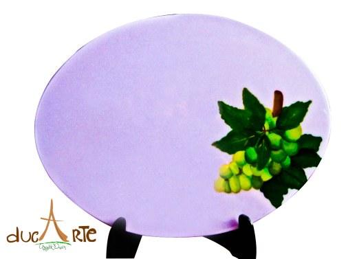 Individuales Ovalados frutas (img_5215) Set 4 Unidades $156.000, resinado 40 Largo X 30 Ancho 1 milímetros de Grosor