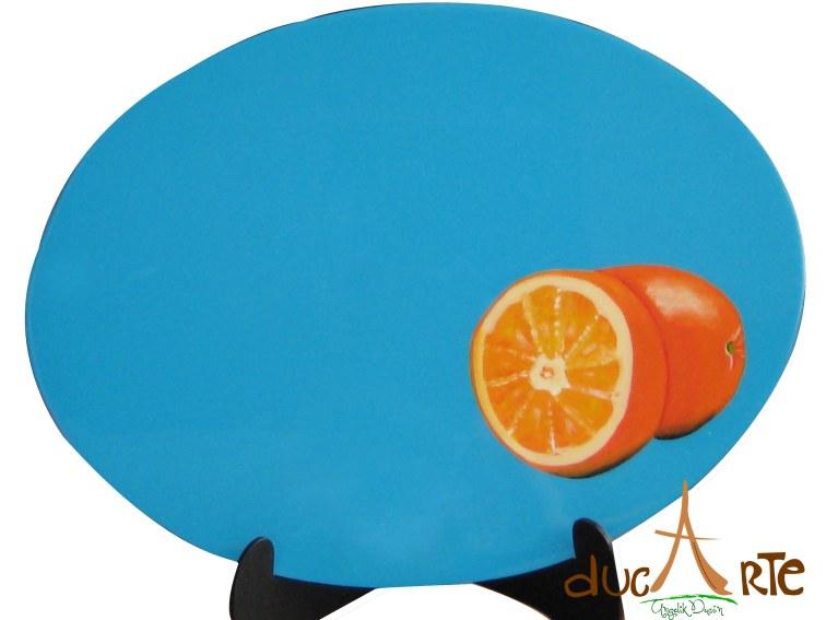 Individuales Ovalados frutas (img_5217) Set 4 Unidades $156.000, resinado 40 Largo X 30 Ancho 1 milímetros de Grosor