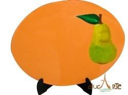 Individuales Ovalados frutas (img_5221) Set 4 Unidades $156.000, resinado 40 Largo X 30 Ancho 1 milímetros de Grosor