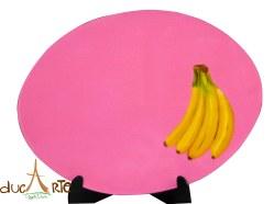 Individuales Ovalados frutas (img_5223) Set 4 Unidades $156.000, resinado 40 Largo X 30 Ancho 1 milímetros de Grosor
